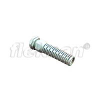 CABLE GLAND, SPIRAL STRAIN RELIEF POLYAMIDE GRAY