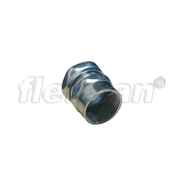EMT COMPRESSION CONNECTOR, STEEL, FEMALE