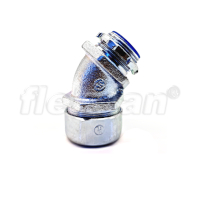 CONNECTOR, METALLIC, LIQUID-TIGHT 45