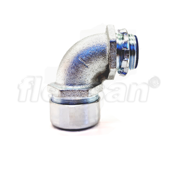CONNECTOR, METALLIC, LIQUID-TIGHT 90