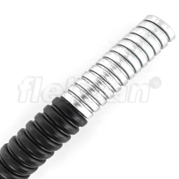FLEXIBLE STEEL CONDUIT PVC COATED BLACK