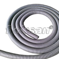 FLEXIBLE STEEL CONDUIT PVC COATED GRAY