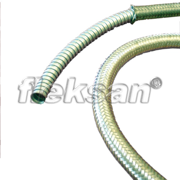 FLEXIBLE CONDUIT, STEEL, WIRE BRAIDED