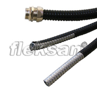 FLEXIBLE STEEL CONDUIT HALOGEN-FREE COATED, BLACK