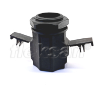CONDUIT CONNECTOR, POLYAMIDE, BLACK