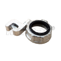 IMC BUSHING, STEEL, INSULATED, WITH GROUNDING LEG