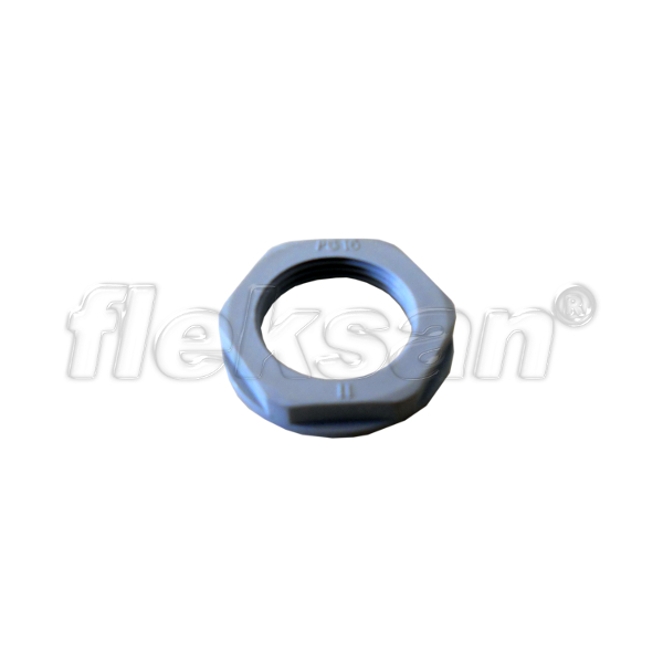 LOCKNUT, POLYAMIDE GRAY